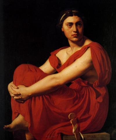 1855 ingres l iliade huile sur toile 59 5x53 5 cm