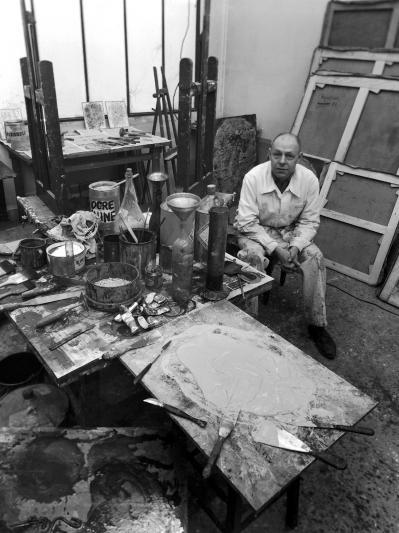 27 robert doisneau jean dubuffet dans son atelier 1951 robert doisneau gamma rapho