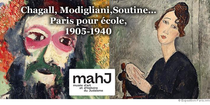 Chagall modigliani soutine paris pour ecole mahj