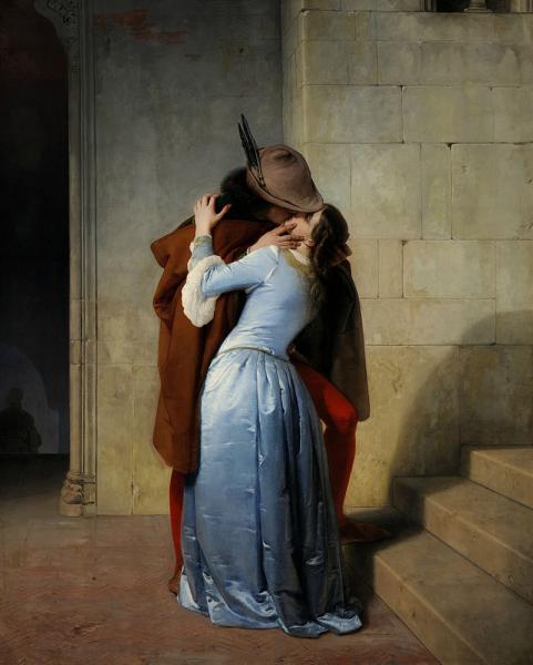 El beso pinacoteca de brera milan 1859