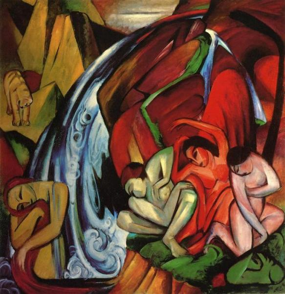 Franz marc the waterfall