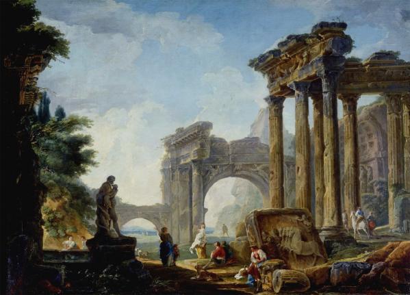 Hubert robert rovine antiche