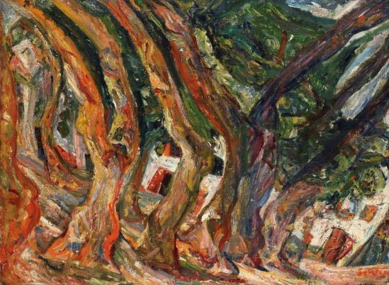 Les platanes a ceret by chaim soutine c 1920