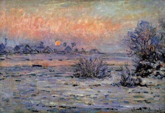 Monet soleil hiver