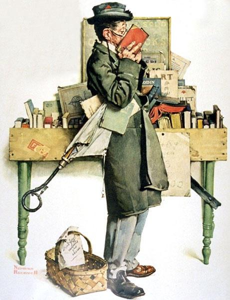 Norman rockwell reading book