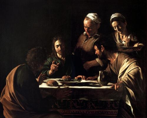 Supper at emmaus caravaggio 1606