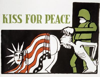 Ungerer kiss for peace