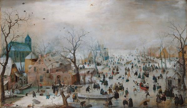 Winter landscape with skaters by hendrick avercamp